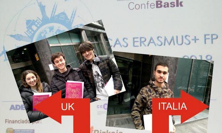 Harrobia  ikastolako  lau  ikasle  ERASMUS+  praktikak  egitera  doaz  bihar