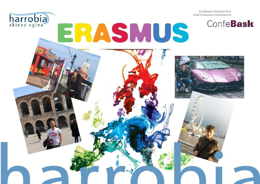 ERASMUS+ praktikak bukatu dituzte Harrobiako  lau ikaslek