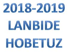 2018-2019  ikasturtea.  Lanbidetasun  ziurtagiriak  eta  ikastaroak.