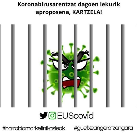 @EUScovid Harrobiako ikasleen marketin viral kanpaina