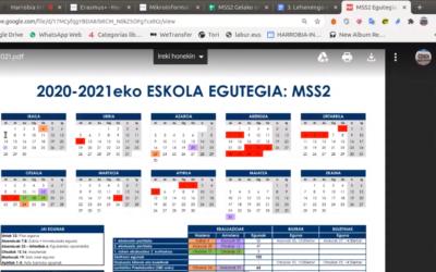 Presentación del curso 2020-2021 en Harrobia Ikastola